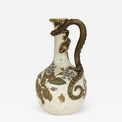 Royal Worcester Japonisme style porcelain ewer by English firm Royal Worcester