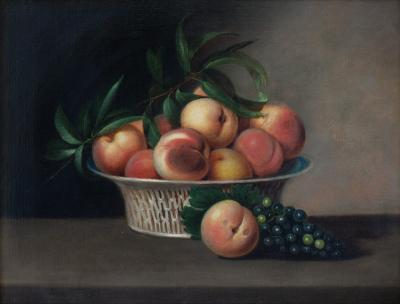 Rubens Peale Fruit Still Life with Chinese Export Basket