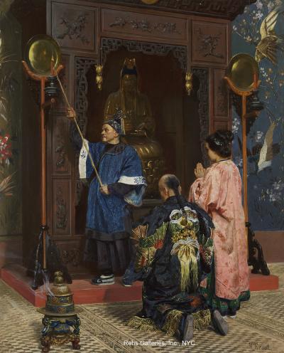 Rudolf Ernst Worshippers at a Shrine