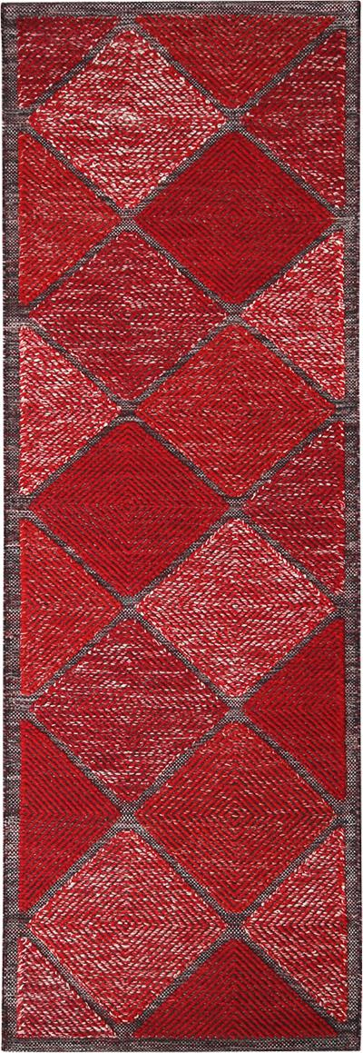 Rug Kilims Scandinavian Inspired Moroccan Style Red and Black Polyester Rug