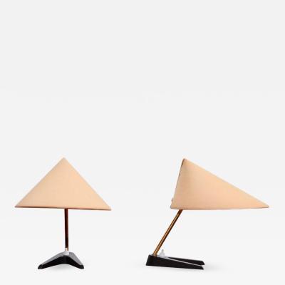 Rupert Nikoll Pair of 1950s Table Lamps in the Manner of Kalmar or Rupert Nikoll