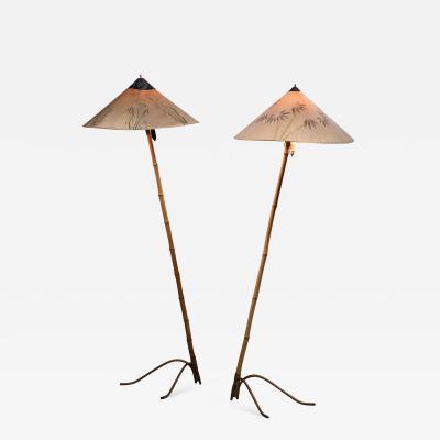 Rupert Nikoll Rupert Nikoll pair of bamboo floor lamps
