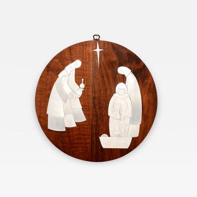 Rus Teteer Nativity Adoration Mid Century Modern Studio Piece