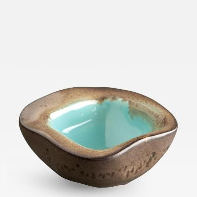 Russel Wright Russell Wright for Bauer Terra Cotta Colored Bowl with Turqouise Interior