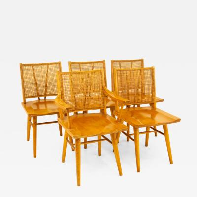 Russel Wright for Conant Ball Mid Century Dining Chairs Set of 5