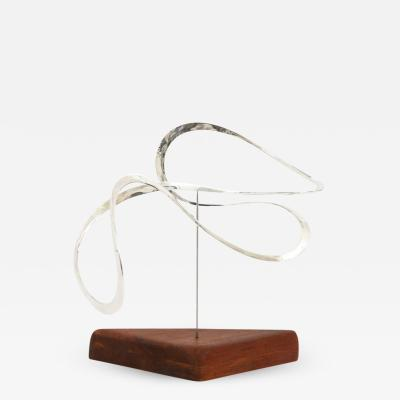 Russell Secrest Russell Secrest Sterling Kinetic Sculpture Signed 1970s USA