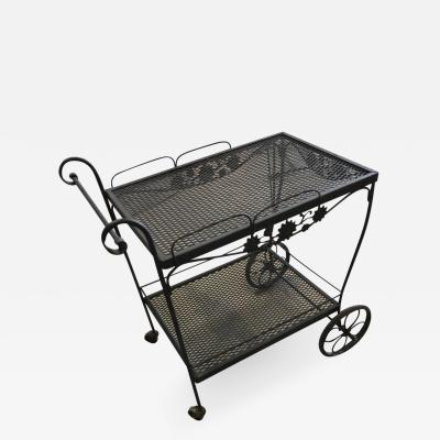Russell Woodard Mid Century Modern Russell Woodard Arnold Palmer Patio Bar Drinks Cart