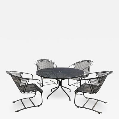 Russell Woodard Mid Century Modern Russell Woodard Arnold Palmer Patio Four Chairs and Table