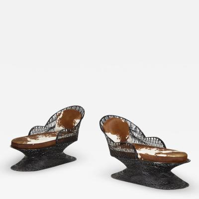 Russell Woodard Woodard Furniture PAIRE DE CHAISES LONGUES EN FIBRE DE VERRE PAR RUSSEL WOODARD