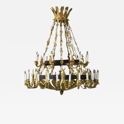 Russian Gilt Chandelier with 36 Arms