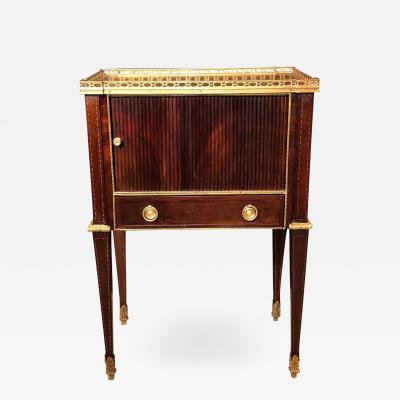 Russian Neoclassic Mahogany End Table