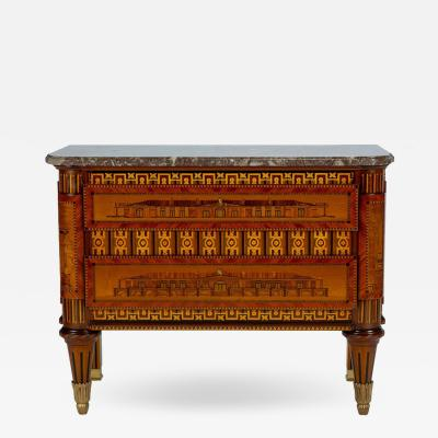 Russian Neoclassical Commode with Marble Top