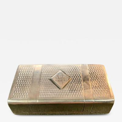 Russian Sterling Gold Box