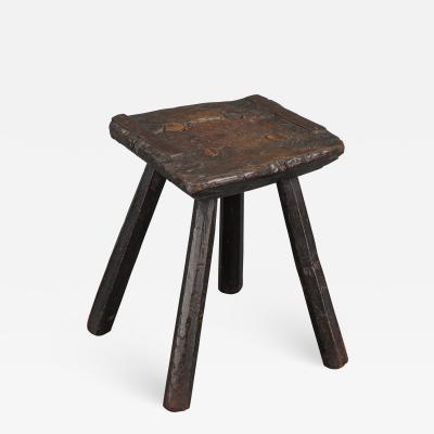 Rustic 18th Century Stool