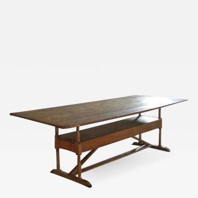 Rustic 19th century Pine Settle Table Farmhouse Table