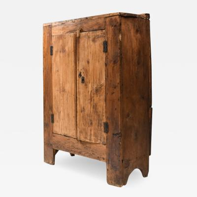 Rustic Art Populaire Folk art storage piece from the Auvergne France 1800s