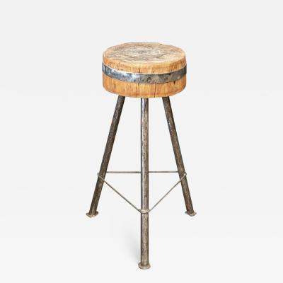 Rustic Chopping Block Side Table