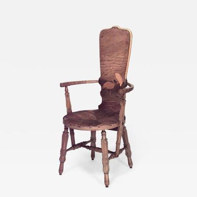 Rustic French Provincial style High Back Arm Chair