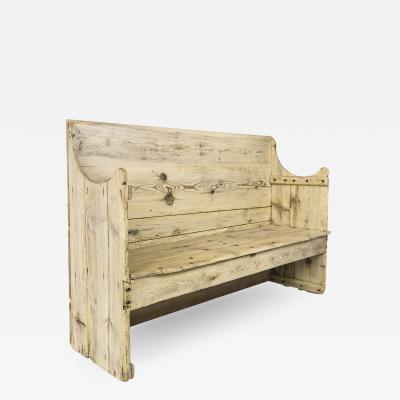 Rustic Pine Wood Bench 19th Century Spain