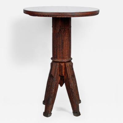 Rustic Tramp Art Table