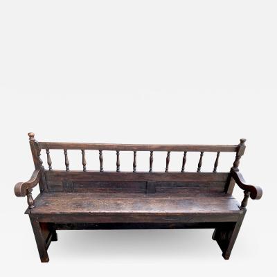 Rustic Walnut Bench 18th Century
