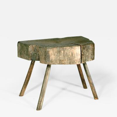 Rustic Welch table stool