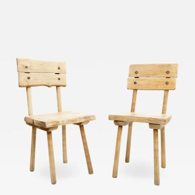 Rustic Wooden Dining Chair Four Available