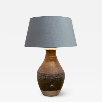 Rustic pot made into a lamp