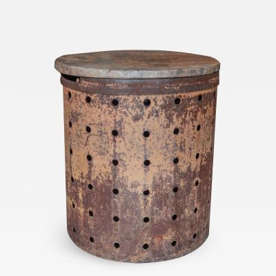 Rusty Metal Drum Table