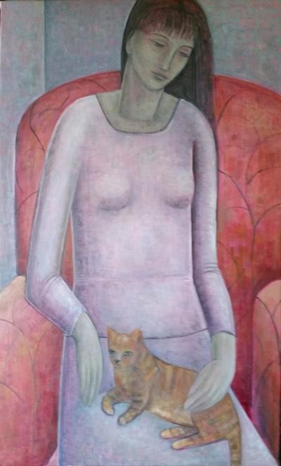 Ruth Addinall Woman And Cat