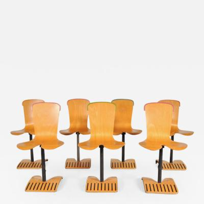 Ruud Jan Kokke 1980s Rare Set of Seven Stacking Chairs by Ruud Jan Kokke Netherlands