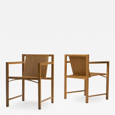 Ruud Jan Kokke Pair of Ruud Jan Kokke slat chairs The Netherlands 1986