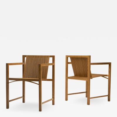 Ruud Jan Kokke Pair of Ruud Jan Kokke slat chairs The Netherlands 1986