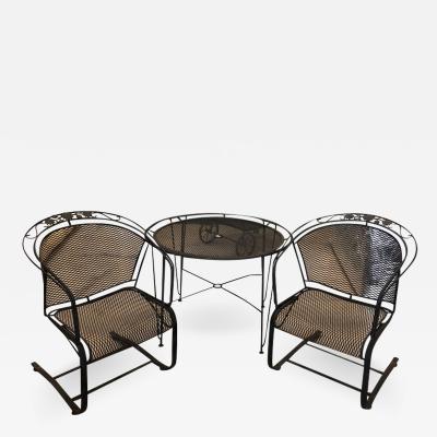 S 3 Mid Century Modern Russell Woodard Arnold PalmerTable Two Rocker Armchairs