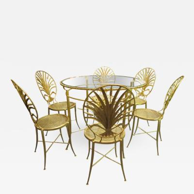 S Salvadori Set of table and six chairs By S Salvadori Firenze C 1960