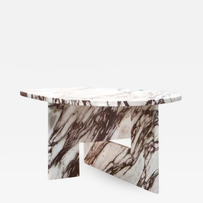 S bastien Caporusso Sculptural Side Table in Marble S bastien Caporusso