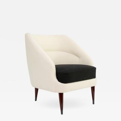 SCANDINAVIAN MODERN BLACK WHITE CHAIR