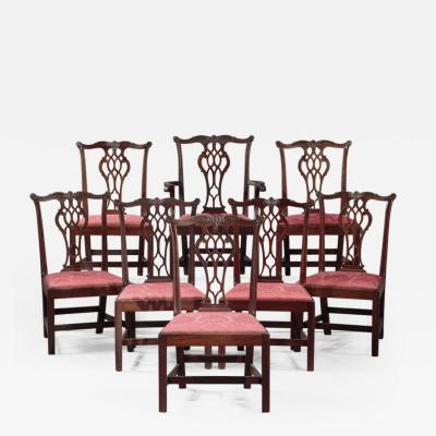 SET OF EIGHT CHIPPENDALE CHAIRS