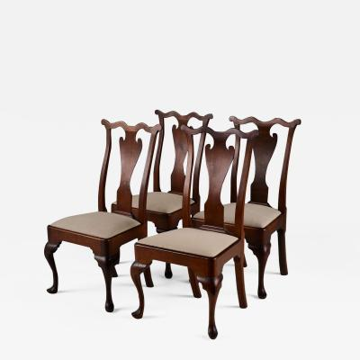 SET OF FOUR PHILADELPHIA SIDE CHAIRS