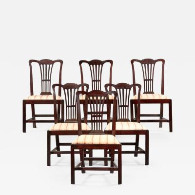 SET OF SIX CHIPPENDALE SIDE CHAIRS