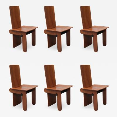 SET OF SIX DINING CHAIRS BY CARLO SCARPA FOR GAVINA