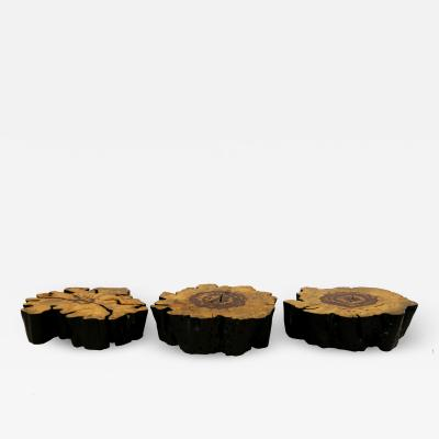 SET OF THREE TAMARIN COFFEE TABLE