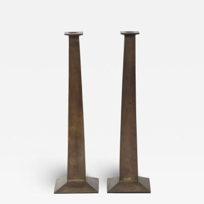 SET OF TWO CANDLESTICKS