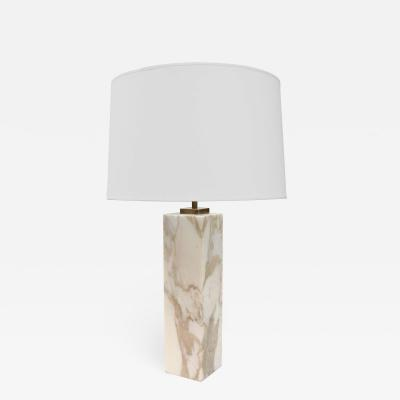 SINGLE T H ROBSJOHN GIBBINGS FOR HANSEN MARBLE TABLE LAMP