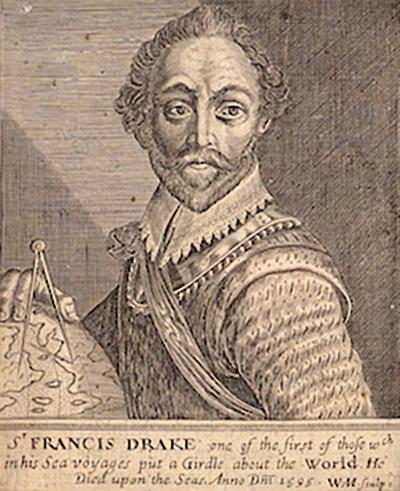 SIR FRANCIS DRAKE 1648 ENGRAVING