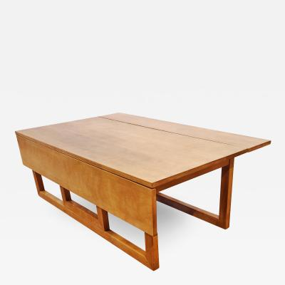 SOLID MAPLE DROP LEAF COFFEE TABLE