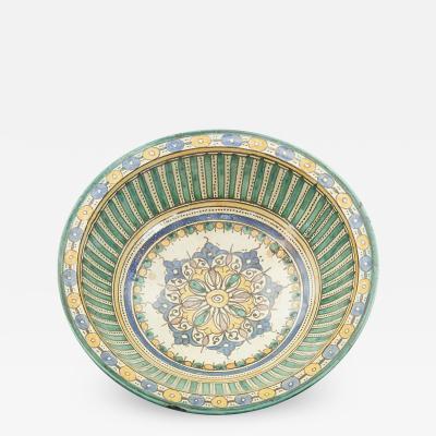 SPANISH 18TH CENTURY GLAZED BOWL PLATE