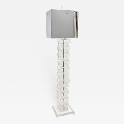 STACKED LUCITE FLOOR LAMP