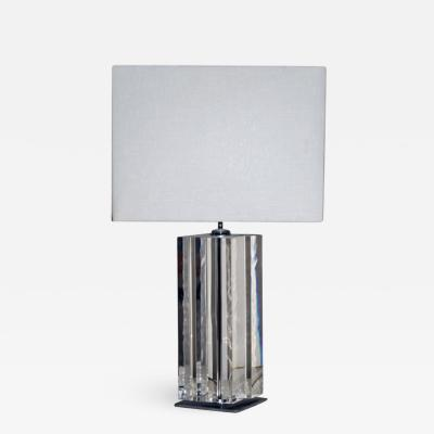STUNNING FACETTED LUCITE TABLE LAMP