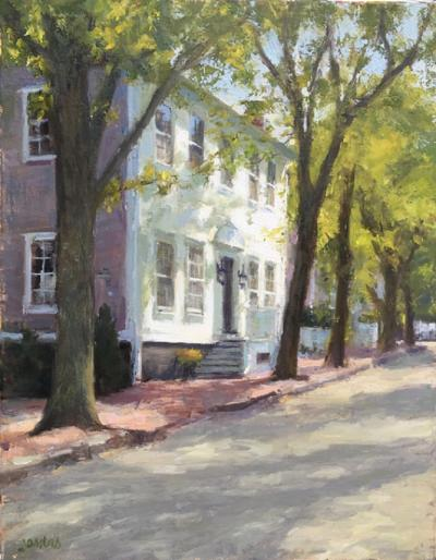 SUSAN JOSITAS MAIN STREET NANTUCKET SPRING LIGHT